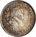 France. 1724-A Ecu. Paris Mint. Gad-320, Dav-1329, KM-472.1. MS-62 (PCGS).