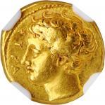 SICILY. Syracuse. Dionysios I, 406-367 B.C. AV 50 Litrai (Dekadrachm) (2.86 gms), ca. 405-400 B.C. N