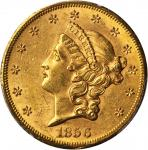1856-S Liberty Head Double Eagle. AU-58 (PCGS). CAC.