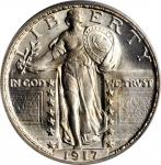 1917-S Standing Liberty Quarter. Type II. MS-66 (PCGS). CAC. OGH.
