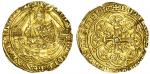 Richard II (1377-99), Half-Noble, type 1b, 3.76g, mm. -/cross patt馥, ric/ard?di g?rex angl?z franc d