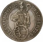 AUSTRIA. Salzburg. Taler, 1685. Maximilian Gandolph von Kuenburg. PCGS Genuine--Damage, AU Details G