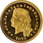 1879飘逸长发5美元金币 NGC PF 65