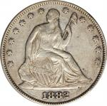 1882 Liberty Seated Half Dollar. WB-101. EF-45 (PCGS).