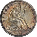 1877-S Liberty Seated Half Dollar. Type II Reverse. WB-23. Rarity-3. Very Small S. AU-58 (ANACS). OH