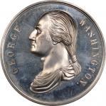 Circa 1876 Residence of Washington medal by Frederick B. Smith. Musante GW-213, Baker-110. White Met