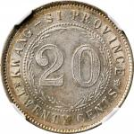 广西省造民国15年贰毫 NGC MS 61 CHINA. Kwangsi. 20 Cents, Year 15 (1926)