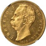 ITALY. 100 Lire, 1883-R. NGC MS-63+.