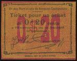 法属南圻20分(无日期),于种植园发行的紧急票,UNC品相,罕品