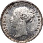 Great Britain, silver 3 pence, 1877, 1st portrait; including Maundy and Colonial,(S-3918), PCGS PL61