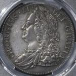 GREAT BRITAIN George II ジョージ2世(1727~60) Crown 1743 PCGS-AU50 -EF