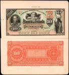 COLOMBIA. Lot of (2) Banco del Estado. 10 Pesos, ND (1886). P-S451p1 & S451p2. Front & Back Proofs.