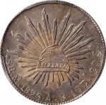 MEXICO. 8 Reales, 1896-Mo AB. Mexico City Mint. PCGS MS-62 Gold Shield.