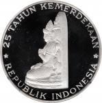 1970年印度尼西亚250印尼盾。INDONESIA. 250 Rupiah, 1970. NGC PROOF-68 Ultra Cameo.