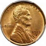 1913-S Lincoln Cent. MS-66 RD (PCGS).