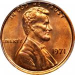 1971 Lincoln Cent. FS-101. Doubled Die Obverse. MS-66 RD (PCGS).
