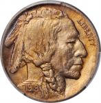 1919-D Buffalo Nickel. MS-65 (PCGS).