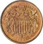 1867 Two-Cent Piece. Proof-64 RD (PCGS). OGH.