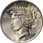 1927 Peace Silver Dollar. MS-66 (PCGS).