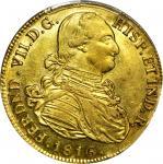 COLOMBIA. 1816-FR-Pn 8 Escudos. Popayán mint. Ferdinand VII (1808-1833). Restrepo M128.25. AU-55 (PC