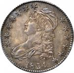 1824/4 Capped Bust Half Dollar. O-109. Rarity-2. MS-64 (PCGS). Secure Holder.