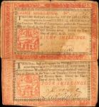 Lot of (2) PA-217b & 219b. Pennsylvania. 1777. 4 & 8 Shillings. Very Fine.