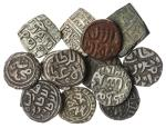 Delhi Sultans, Firoz Shah (1290-96), billon Jital, AE Paika, Muhammad II (1296-1316), billon 6-Gani,
