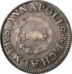 1783 John Chalmers Shilling. W-1785. Rarity-4+. Birds, Short Worm. Fine-12 (PCGS). OGH.