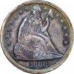 Complete 1868 Minor and Silver Coin Proof Set. (PCGS).