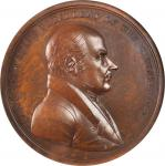 1825 (Post-1861) John Quincy Adams Indian Peace Medal. Medium Size. Bronze. 62 mm. Julian IP-12. MS-
