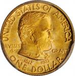 1922 Grant Memorial Gold Dollar. No Star. MS-66 (PCGS). CAC.