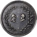 Undated (ca. 1834) Lafayette Par Nobile Fratrum Medalet. Silver. 27 mm. Musante GW-142, Baker-197. M