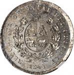 URUGUAY. Peso, 1844. NGC MS-61.