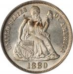 1889 Liberty Seated Dime. MS-65 (PCGS).