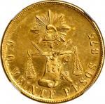 MEXICO. 20 Pesos, 1902-Cn Q. Culiacan Mint. NGC MS-63 Prooflike.