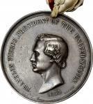1853 Franklin Pierce Indian Peace Medal. Silver. Second Size. Julian IP-33, Prucha-49. Very Fine.