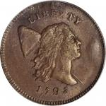 1795 Liberty Cap Half Cent. C-4. Rarity-3. Plain Edge, Punctuated Date. MS-62 BN (PCGS).
