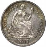 1877 Liberty Seated Dime. Proof-65+ (PCGS). CAC.