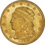 1828 Capped Head Left Half Eagle. Bass Dannreuther-4. Rarity-6+. Mint State-65+ (PCGS).