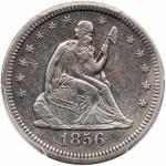 1856-S/S Liberty Seated Quarter Dollar. PCGS EF40