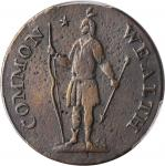 1787 Massachusetts Cent. Ryder 2b-A, W-6040. Rarity-2. Arrows in Left Talon, Horned Eagle. VF Detail