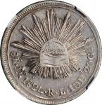 MEXICO. 8 Reales, 1824-Do RL. Durango Mint. NGC EF-40.