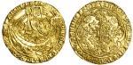 Henry VI 1﨎t reign (1422-61), Noble, Leaf-Trefoil issue, 6.89g, mm. -/lis, h/enric瀦 di?gra?rex?angl瀦