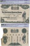 "China: ""Imperial Bank of China"" 1904, 16 Februry, Shanghai, an obverse and reverse proof in black an"