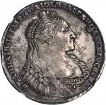 RUSSIA. Ruble, 1736. Anna (1730-40). NGC AU-53.