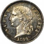COLOMBIA. 1849 pattern 4 Pesos. Bogotá mint. Restrepo P72. Silver. SP-63 (PCGS).