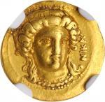 ITALY. Lucania. Metapontion. AV Tetrobol (1/3 Stater) (2.59 gms), ca. 302 B.C. NGC EF★, Strike: 5/5