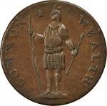 1788 Massachusetts Cent. Ryder 12-K, W-6340. Rarity-6-. Stout Indian. AU-50 (PCGS).