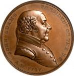 1797 John Adams Indian Peace Medal. The Only Size. Bronze. 51 mm. Julian IP-1. First Reverse. MS-66