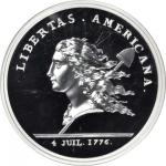 1781 (2014) Libertas Americana Medal. Paris Mint Restrike. Silver. 5 ounces. Proof-70 Ultra Cameo (N